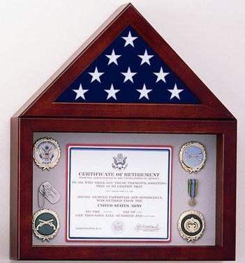Flag Display Case with a 10' high Shadow Box