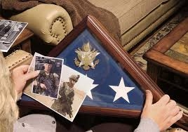 Burial flag Display case, Frame for a flag that was over a coffin in a military funeral