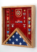 Fireman Flag and Medal Display case - Shadow Box