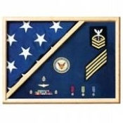 Air Force Blue - Wood Flag Display Case,flag boxes