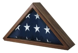 The Senators Flag Display cases are beautiful solid wood flag display cases featuring a stunning oak, cherry, or walnut finish.