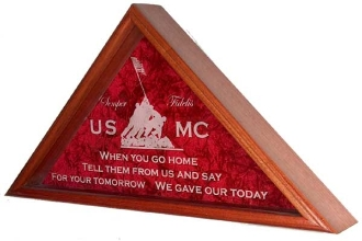Marine Corps Flag Display Case, Marine Corps Flag Display Case