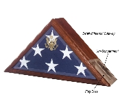 Urn and Flag Case