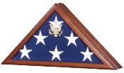 The Presidential Flag Display Case with Seal is a best selling solid wood flag case that is made in the USA.