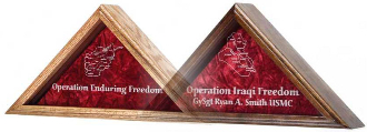 Operation Iraqi Freedom flag display case