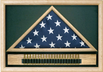 21-Gun Salute Flag Display Case