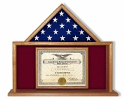USMC Flag and Certificate Case, marine Corps Flag and Certificate Display Case