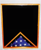 Large Military Memorial Flag/Medal Display Case