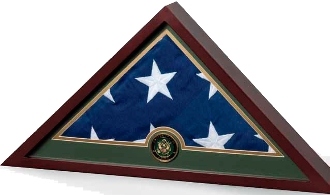 Navy Frame Flag Display Case Gifts