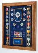 Awards Display Case, Combo Flag display case