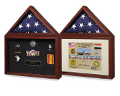 Air force Flag case, flag and medal display box, Shadow Box