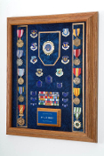 Awards Display Case, US Air Force, US Army, US Coast Guard, US Marine Corps, US Navy