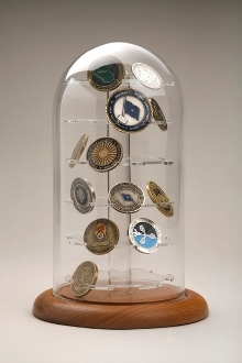 Challenge coins case, 36 Coins Display