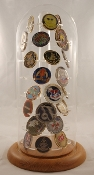 Large Challenge coins cases, 46 Challenge coins cases