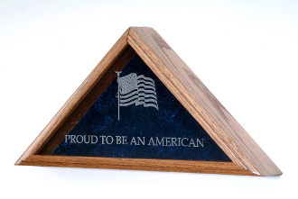 Flag Display Cases, Personalized flag display case for large and small flags,