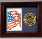 "Coast Guard frame 10"" x 8"" Medallion, Coast Guard Frame"