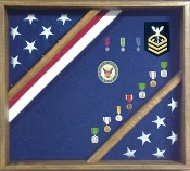 Flag Display Box, Wood Flag Red White and Blue Box