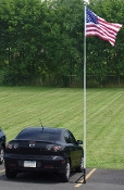 Tailgating Flagpole Set by Valley Forge, Large Car Flagpole, Car Flagpole, American car-flagpole