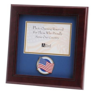 American Flag Medallion Landscape Picture Frame 4 by 6