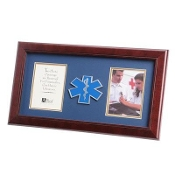 4 by 6 EMS Medallion Double Picture Frame