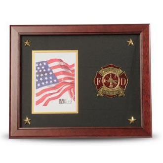 Firefighter Medallion Picture Frame with Stars