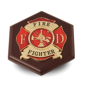 Firefighter Medallion Paperweight