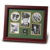 Go Army Medallion Five Picture Collage Frame