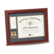 Police Department Medallion Certificate and Medal Frame