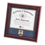 Police Department Medallion Certificate Frame