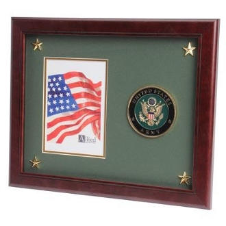 U.S. Army Medallion Picture Frame with Stars