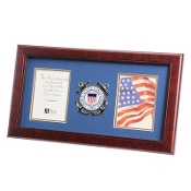 U.S. Coast Guard Medallion Double Picture Frame