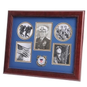 U.S. Coast Guard Medallion 5 Picture Collage Frame