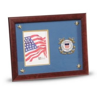 U.S. Coast Guard Medallion Picture Frame with Stars