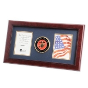 U.S. Marine Corps Medallion Double Picture Frame