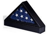 Flag Case With Base For Tabletop Or Wall Mounting, Table flag display case