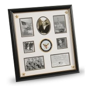 U.S. Navy Medallion 7 Picture Collage Frame with Stars