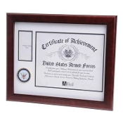 U.S. Navy Medallion Certificate and Medal Frame