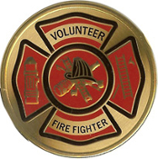 VOLUNTEER FIRE FIGHTER Color Medallion