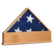 American Flag Display Case with Engraved US Air Force Emblem