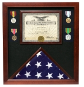 Police retirement flag medal display cases