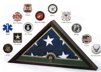 Medallion Flag Display Case, Memorial Flag Display case