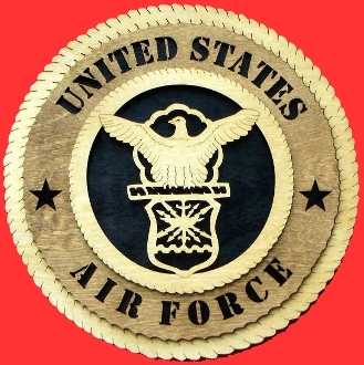 Air force Wall Tribute, Air force Wood Wall Tribute, USAF emblem