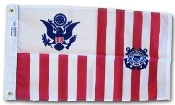"Coast Guard Ensign Flag - 15"" x 24"" Nylon G-Spec USCG Ensign"