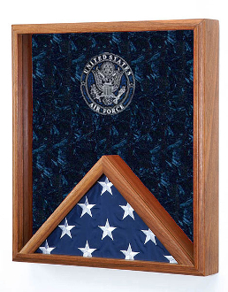 USAF flag cases, Air force flag case, Flag Display Case - Shadow Box