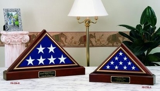 American Made Flag And Pedestal Display case