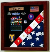 Burial Flag / Medals Display case American Made