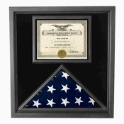 Premium USA Made Solid wood Flag Document Case Black Finish