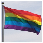 Rainbow Flag 3ft x 5ft Super Knit Polyester, Gay Flag