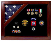 Flag medal case, Flag Case, Colonial Classic Shadow Box & Flag Case