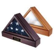 Officers Flag Display Case AND Pedestal for 3ft x5ft Flag